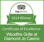 CERTIFICATE OF EXCELLENCE - WOODFIRE GRILLE