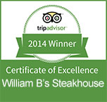Certificate of Excellence - William B's Steakhouse