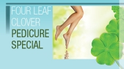 Four Leaf Clover Pedicure Special