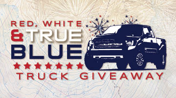Red, White & True Blue Truck Giveaway