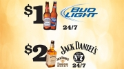 $1 Buds and $2 Jack Tennessee Honey Shots