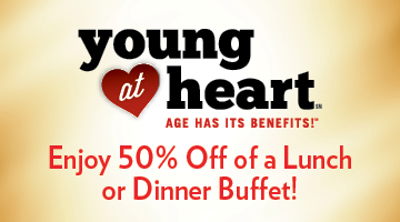 Young at Heart 50% Off Buffet