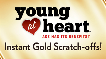 Young at Heart Gold Scratch-Offs