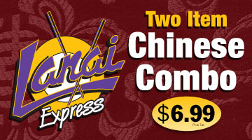Delicious two item Chinese combo for $6.99