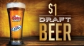 Enjoy $1 Draft Beer in the Kitchen Buffet all month!