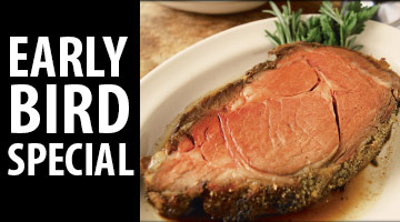 A Steakhouse Classic Prime Rib Dinner