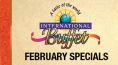 International Buffet February Specials