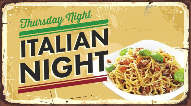 Thursday Night Italian Night