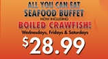 Crawfish is Back on the Buffet!!!