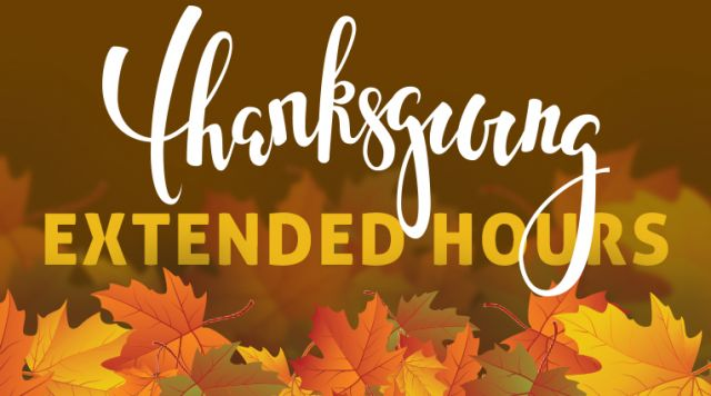 We Are Extending the Fun for Thanksgiving!