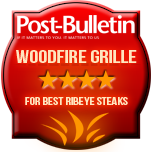 Four Stars for Best Ribeye Steaks - Woodfire Grille